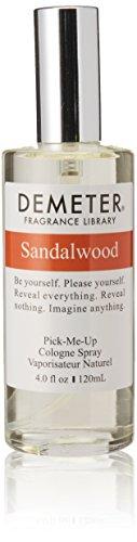 Demeter Unisex Cologne Spray, Sandalwood, 4 Ounce