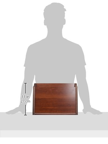 Wooden Mallet Privacy Chart Holder, HIPAA Compliant, Letter Size, Mahogany by Wooden Mallet (Image #2)