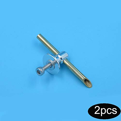 Hockus Accessories 2PCS Model Boat Parts Stern Wiper Nozzles M3 Water Inlet Nozzle Copper Nozzle Length 49mm Suitable for 3mm/4mm Water-Cold Tube