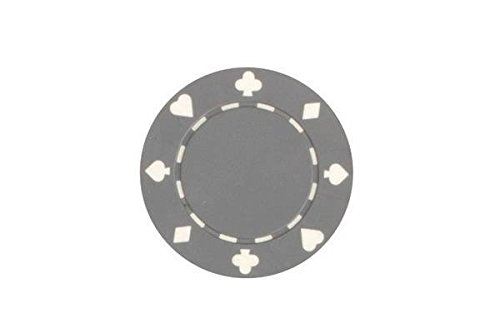 (CHH 2702P-GRY 50 Piece Suited Composite Poker Playing Chips, Grey and White)