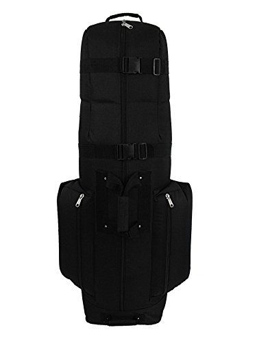CaddyDaddy Golf CDX-10 Golf Travel Bag Cover (Black, 50 x 12.5 x 15-Inch)