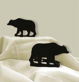 (Village Wrought Iron CUR-TB-14 Bear Tie Backs)