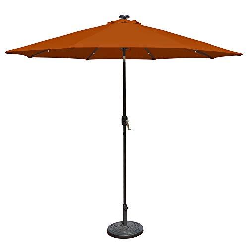 Island Umbrella N5424TC Mirage Fiesta Octagonal Market Umbrella, 9-ft, Terra Cotta Olefin - Light Terra Cotta