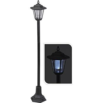ProGarden Solar Powered Garden Lamp Driveway Light Outdoor Pathway Led Lantern Post