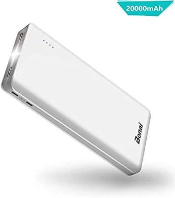 BONAI Power Bank 20000mAh Bateria Externa Movil 2 Mirco Entradas y ...