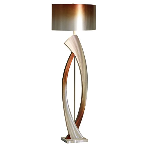 (NOVA of California JFL4810 Swerve Floor Lamp, Height 62-Inch, Rust, Bronze, Brushed Rust & Bronze Aluminum Shade)