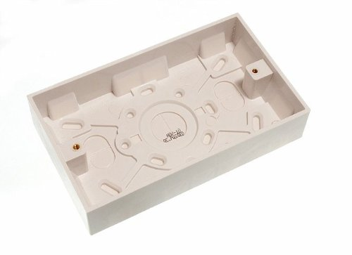Lot Of 10 Moulded Pattress Surface Mount Back Box Double 2 Gang 25Mm by DIRECT HARDWARE