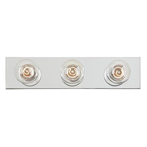 Westinghouse Lighting 6640600 Three-Light Interior Bath Bar, Chrome Finish