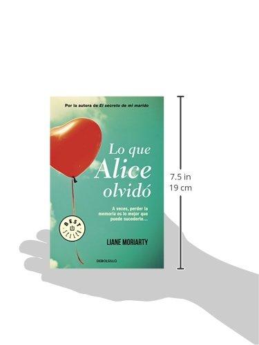 Lo que Alice olvidó (BEST SELLER): Amazon.es: Liane Moriarty, ZORAIDA; DE TORRES BURGOS: Libros