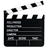 Beistle 50715 Movie Set Clapboard. This working clapboard is made of wood and can be written on with chalk. It includes 1 piece of chalk. The clapboard measures 8 inches tall by 7 inches wide. Use this Movie Set Clapboard as a prop for an Awa...