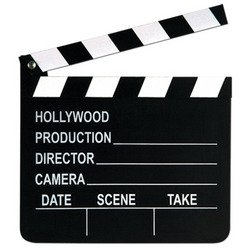 Hollywood Movie Mask (Beistle 50715 Movie Set Clapboard, 8