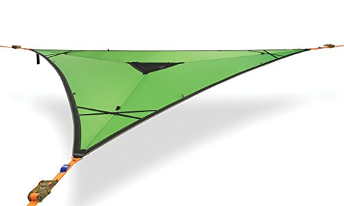 Tentsile Trillium 3-Person Heavy-Duty Tensioned Triple Hammock, Green Fabric (Affordable Beds Canopy)