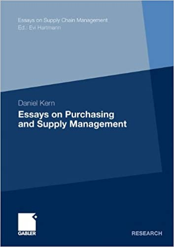 essays on purchasing and supply management essays on supply chain  essays on purchasing and supply management essays on supply chain management 2011th edition