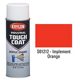 Krylon Industrial Tough Coat Acrylic Enamel Implement Orange - Lot of 12 (Coat Krylon Orange)