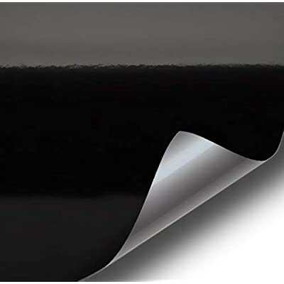 VViViD Gloss Black Vinyl Wrap Adhesive Film Air Release Decal Sheet (12 Inch x 60 Inch): Automotive