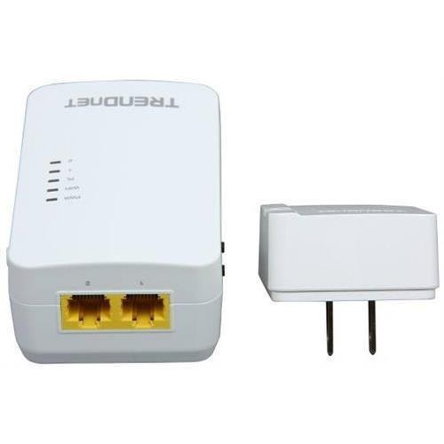 TRENDnet TPL-410APK Powerline 500 Wireless Kit - 2 x Network (RJ-45) - 600 Mbps Powerline - 5000 Sq. ft. Area Coverage - 984.25 ft Distance Supported - IEEE 802.11n - HomePlug AV - Fast Ethernet