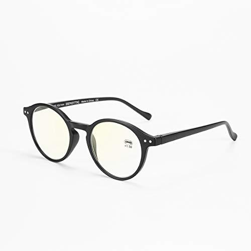 940b2f49e79 ZENOTTIC Blue Light Blocking Reading Glasses Anti Glare Lens Lightweight  Frame Eyeglasses for Men and Women (Black