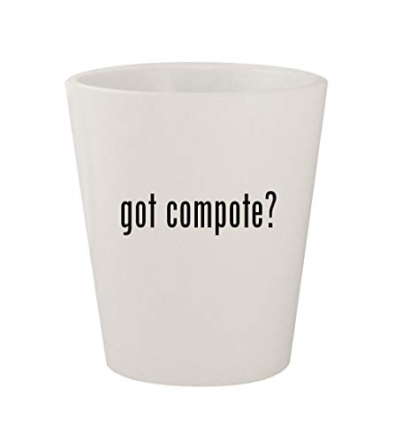 got compote? - Ceramic White 1.5oz Shot Glass