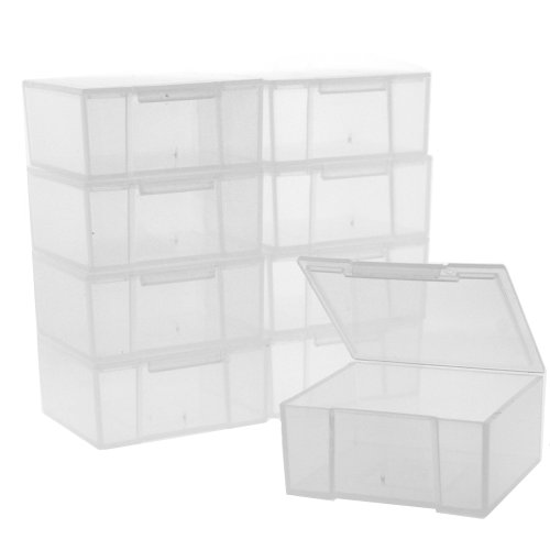 - 10 Storage Square Clear Containers for Small Items Organizer 2.5 inches