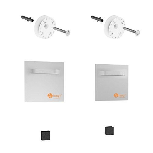 Premium Spiegel Aufhänger Set inkl. 2 Spiegelaufhänger - Spiegelhalter und Exzenterscheiben von Hang-it