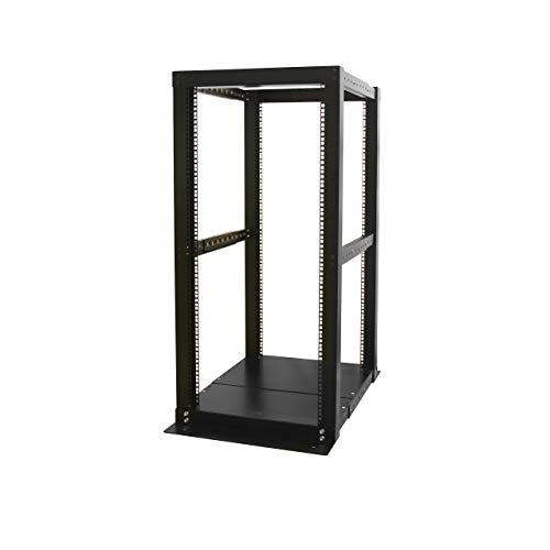 Computer Rack Mounting Equipment - StarTech.com 25U Adjustable Depth 4 Post Open Frame Server Rack Cabinet - Open Frame Equipment Rack - 25U Rack - 4 Post Rack (4POSTRACK25)