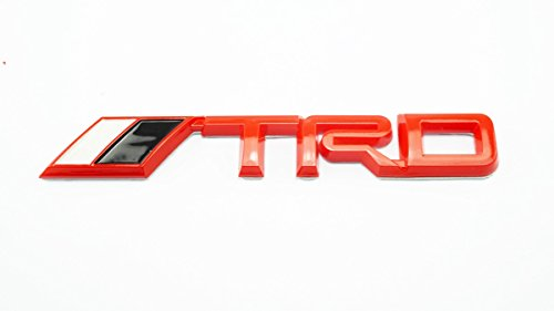 3D TRD Red Plastic Logo Emblem Sticker Decal Badge Trunk For Toyota