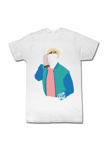 Saved By The Bell No Face Zack Morris Adult White T-Shirt (Adult -