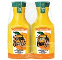 Fresh Squeezed Orange Juice - Simply Orange® Twin Pack - 2/59oz Bottles