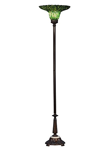 Dale Tiffany TR17184 Audio Lotus Torchiere Floor Lamp, 71.5