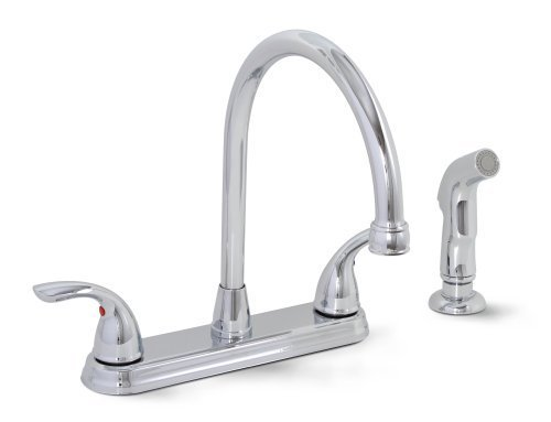 Premier 120447LF Bayview Lead-Free Two-Handle Kitchen Faucet with Matching Spray, Chrome by Premier Faucet