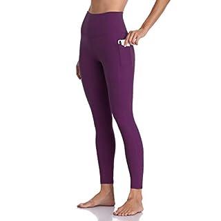 Colorfulkoala Women's High Waisted Yoga Pants 7/8 Length Leggings with Pockets (XS, Deep Violet)