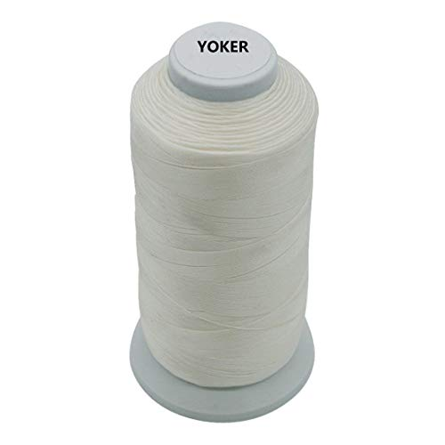 Meikeer Bonded Nylon Sewing Thread Size #69 T70 210D/3 1500 Yard,for Outdoor Leather Bag Shoes Canvas Upholstery (White)