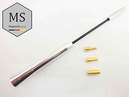 Mega Soft.Antena corta sro aluminio plata/cromo