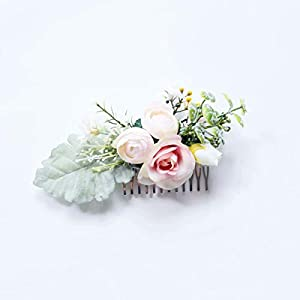FIDDY898 Artificial Floral Crown Green Flower Crown Floral Bridal Head Piece for Photo Prop 103