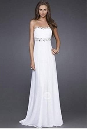 P1 white Size 12 Long prom ball gown dress Reception Dresses Prom Gown Evening