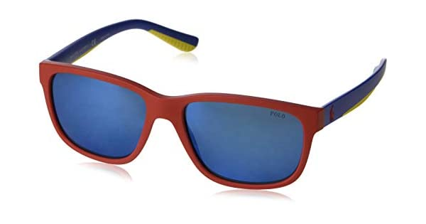 Amazon.com: Gafas de sol Polo PH 4142 573455 mate rojo: Shoes