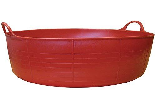 SKB family Large Shallow Tubtrugs Storage Tub - Red, 8'' x 35 lbs