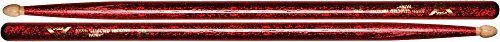 Vater Percussion Color Wrap 5B Red Sparkle Wood Tip