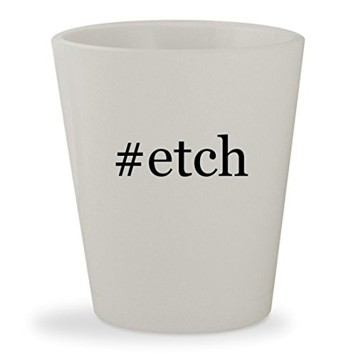 #etch - White Hashtag Ceramic 1.5oz Shot Glass