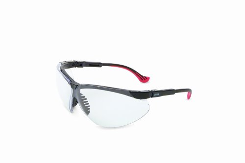 - Uvex by Honeywell Genesis XC Safety Glasses, Black Frame with Clear Lens & Uvextreme Anti-Fog Coating  (S3300X)