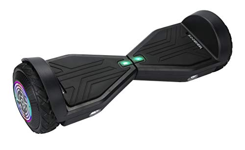 BrahaKoowheel Hoverboard 30 with LED Light Up Wheels Black Neutral