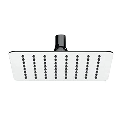 Mirabelle MIRRS820S 2.0 GPM Single Function Square Rain Shower Head,