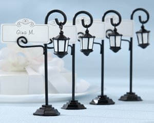 Bourbon Street Streetlight Place Card Holder with Coordinating Place Cards (Set of 4), 1 piece