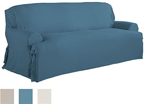 Serta Relaxed Fit Duck Furniture Slipcover for T-Sofa, Indigo