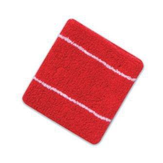 OTTO Terry Cloth Wristband - Red/Wht