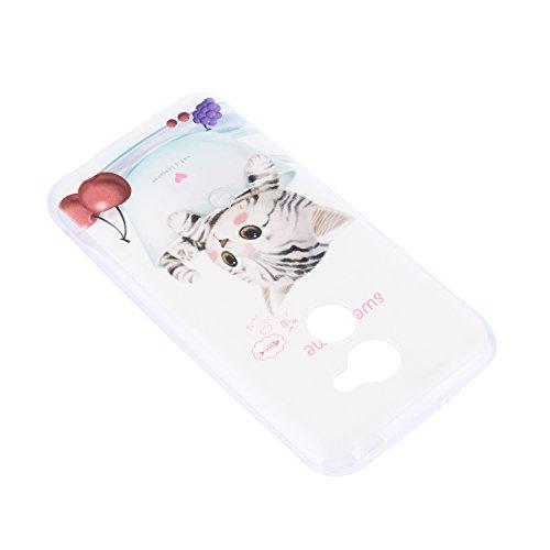 Lusee Funda de silicona para Vodafone Smart N8 5.0 pulgada Suave Cascara TPU dulce momento