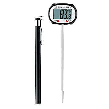 Habor Swiveling Head Meat Thermometer with 5 Second Accurate Instant Read, Large Digital LCD, Protective Probe Sleeve for Kitchen Cooking Food, Candy, Oil, Grill, Boiling Water