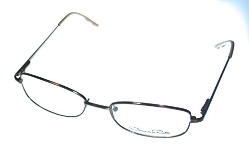 Oscar de Renta Eyewear ODLR 1119 Brown Mens Rectangle Metal Eyewear - De Renta Frames La Oscar