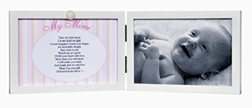 Grandparent's Gift Co. My Mimi White Double Hinged Tabletop Photo Frame 4x6 Poem