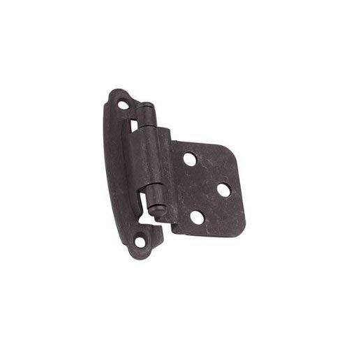 Hickory Hardware P243-AC Surface Self-Closing 3/8-Inch Offset Hinge, Antique Copper
